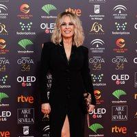 Miriam Diaz Aroca en la alfombra roja de los Premios Goya 2020