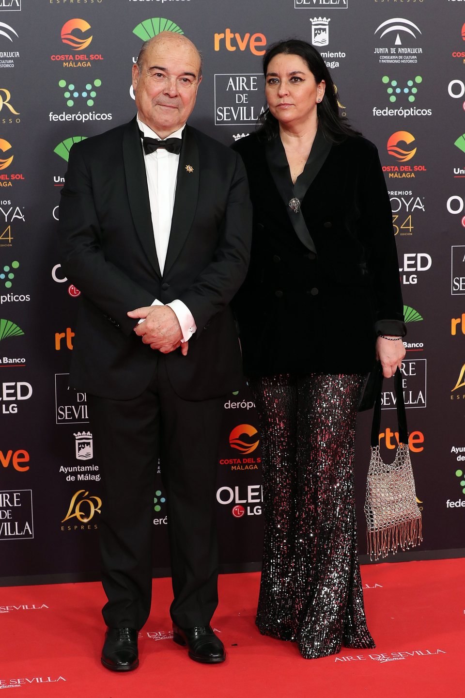 Antonio Resines en la alfombra roja de los Premios Goya 2020