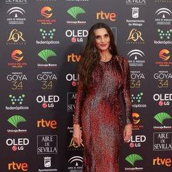 Ángela Molina en la alfombra roja de los Premios Goya 2020