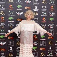 Marisa Paredes en la alfombra roja de los Premios Goya 2020