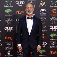 Javier Gutiérrez en la alfombra roja de los Premios Goya 2020
