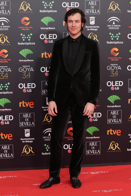 Jorgue Suquet en la alfombra roja de los Premios Goya 2020