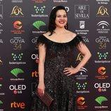 Carmen Gutiérrez en la alfombra roja de los Premios Goya 2020