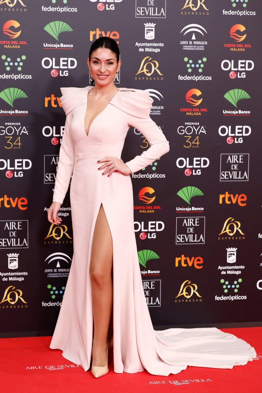 Celia Flores en la alfombra roja de los Premios Goya 2020
