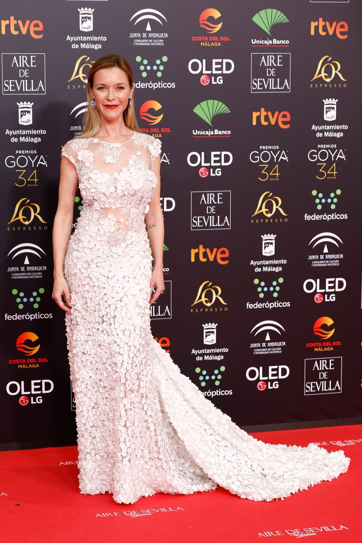 María Esteve en la alfombra roja de los Premios Goya 2020