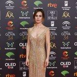 Marta Etura en la alfombra roja de los Premios Goya 2020