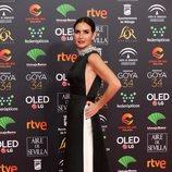 Belén López en la alfombra roja de los Premios Goya 2020
