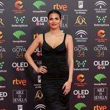 Sara Salamo en la alfombra roja de los Premios Goya 2020