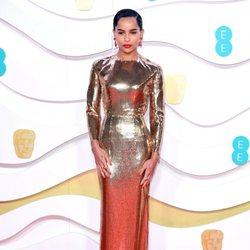 Zoë Kravitz en la alfombra roja de los BAFTA 2020