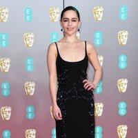 Emilia Clarke en la alfombra roja de los BAFTA 2020