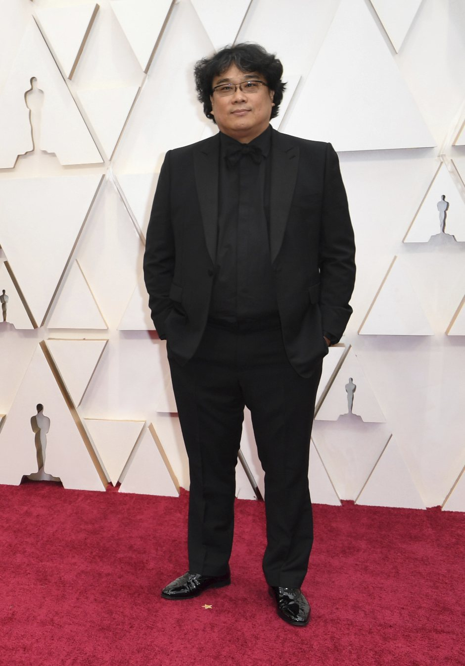 Bong Joon-ho en la alfombra roja de los Oscar 2020