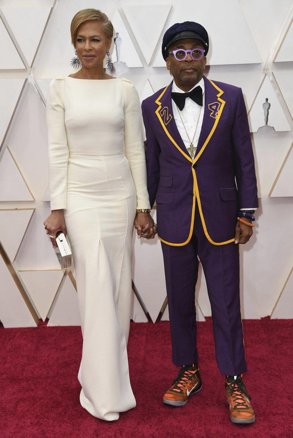 Spike Lee en la alfombra roja de los Oscar 2020