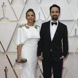 Lin-Manuel Miranda en la alfombra roja de los Oscar 2020