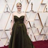 Greta Gerwig en la alfombra roja de los Oscar 2020