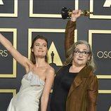 Elena Andreicheva y Carol Dysinger con su Oscar a Mejor Corto Documental