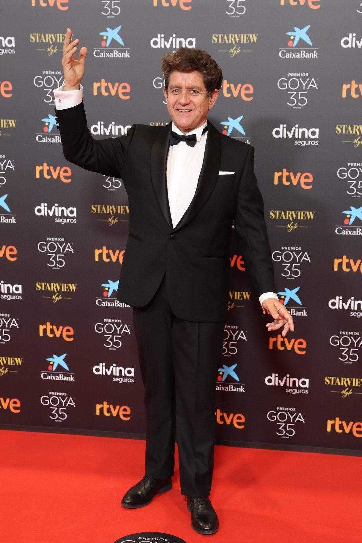 Pedro Casablanc en la alfombra roja de la 35 edición de los Premios Goya