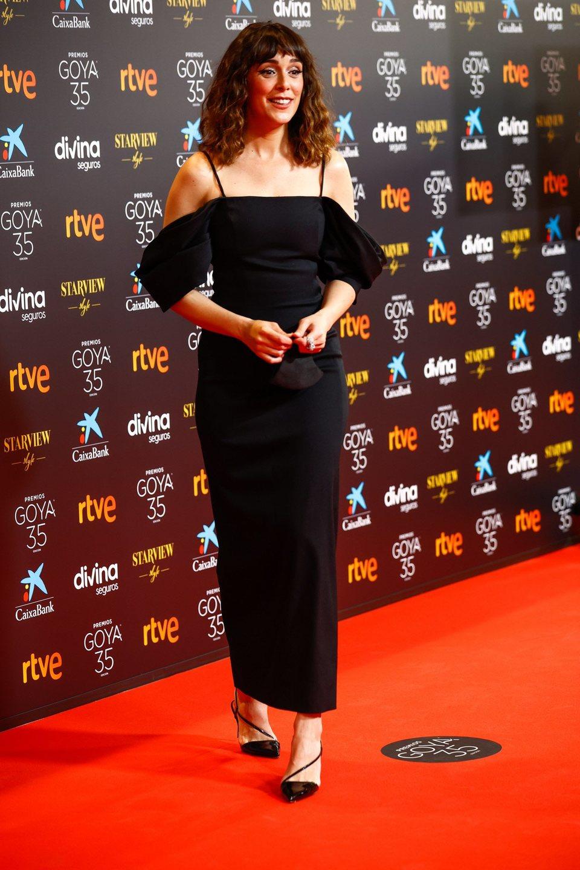 Belén Cuesta en la alfombra roja de la 35 edición de los Premios Goya