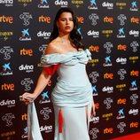 Nathy Peluso en la alfombra roja de los Goya 2021
