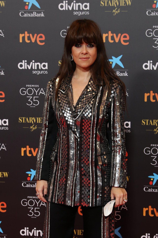 Vanesa Martín en la alfombra roja de los Goya 2021