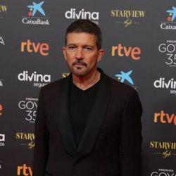 Antonio Banderas en la alfombra roja de la 35 edición de los Premios Goya