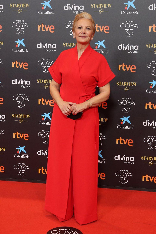 Elena Irureta en la alfombra roja de los Goya 2021