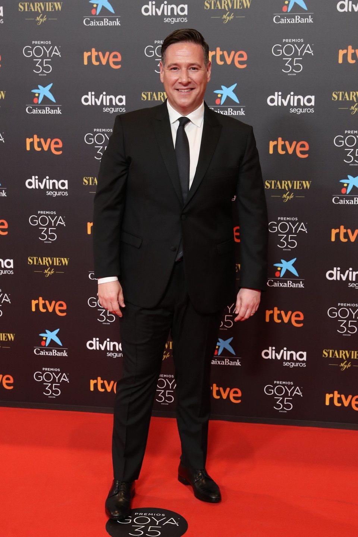 Carlos Latre en la alfombra roja de la 35 edición de los Premios Goya