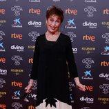 Verónica Forqué en la alfombra roja de la 35 edición de los Premios Goya