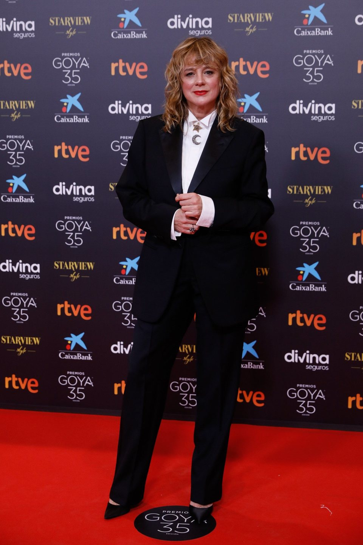 Emma Suarez en la alfombra roja de los Goya 2021