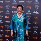 Mónica Randall en la alfombra roja de la 35 edición de los Premios Goya