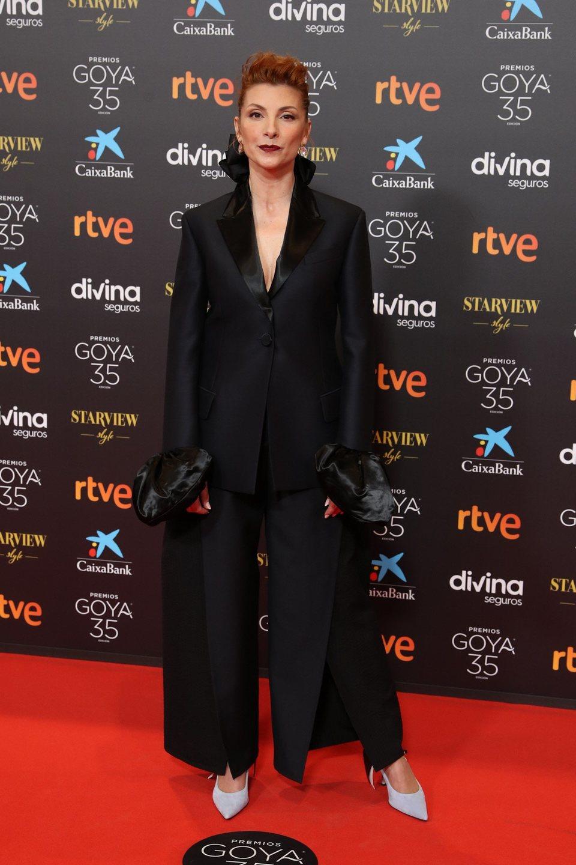 Najwa Nimri en la alfombra roja de la 35 edición de los Premios Goya