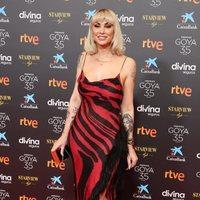 Daniela Santiago en la alfombra roja de la 35 edición de los Premios Goya