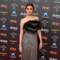 Marta Nieto en la alfombra roja de la 35 edición de los Premios Goya