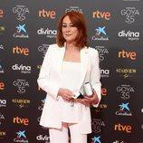Gracia Querejeta en la alfombra roja de la 35 edición de los Premios Goya