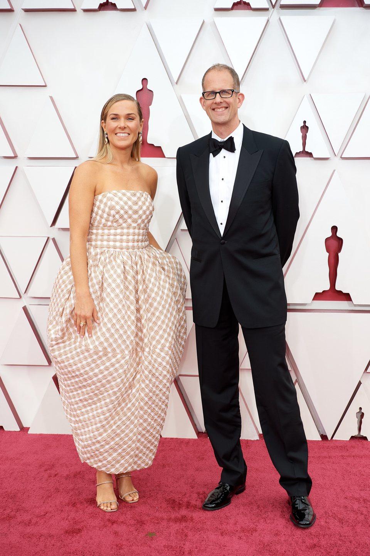 Dana Murray y Pete Docter en la alfombra roja de los Oscar 2021