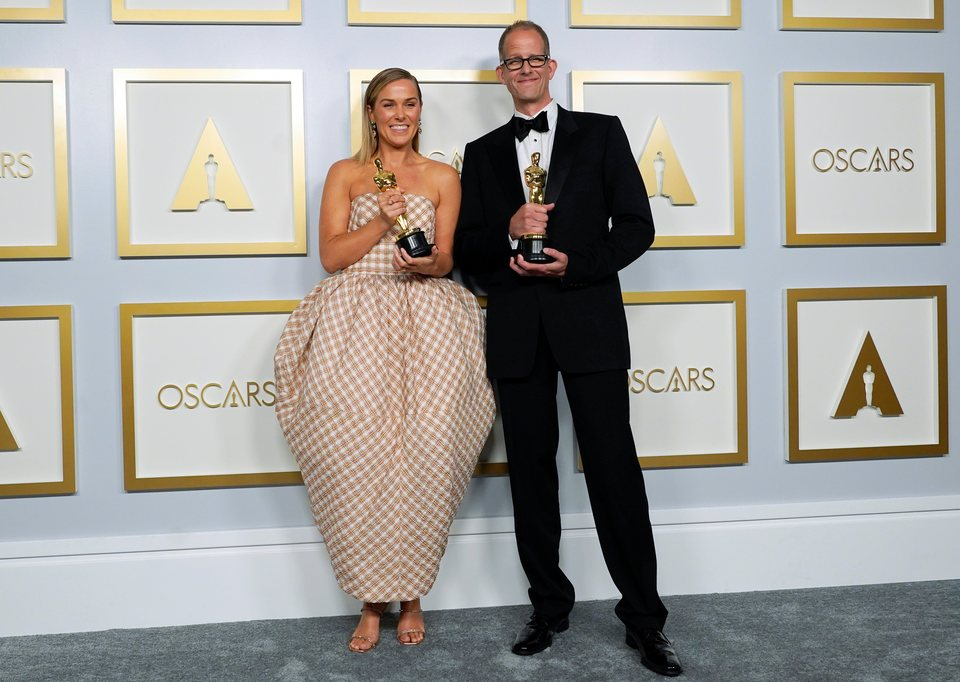 Dana Murray y Pete Docter, ganadores del Oscar 2021 a la mejor película de animación