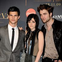 Taylor Lautner, Kristen Stewart y Robert Pattinson en Madrid
