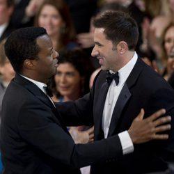 Geoffrey Fletcher y Sheldon Turne en la 82ª edición de los Oscar