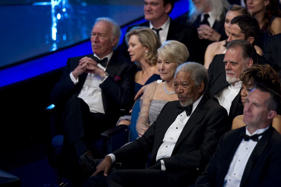 Christopher Plummer, Helen Mirren y Morgan Freeman