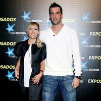 La presentadora Luján Argüelles con su marido