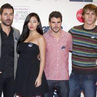 David Seijo, Giselle Calderón, Javier Hernández y Bernabé Fernández,