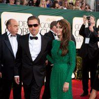 Brad Pitt y Angelina Jolie en los Globos de Oro