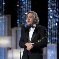 Robert De Niro en los Globos de Oro 2011