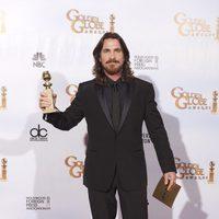 Christian Bale con su Globo de Oro