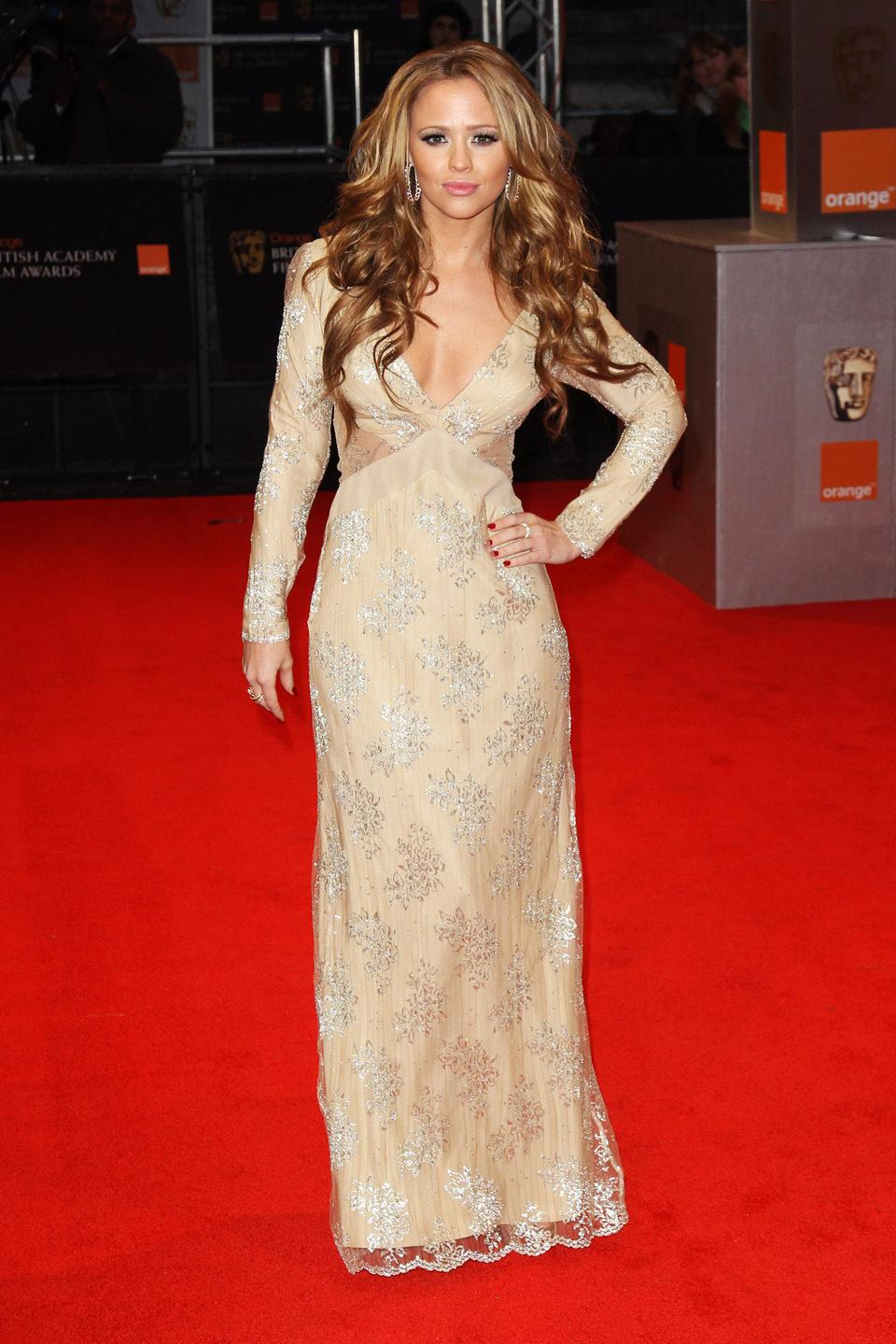 Kimberley Walsh de 'Girls Aloud' en los BAFTA 2011