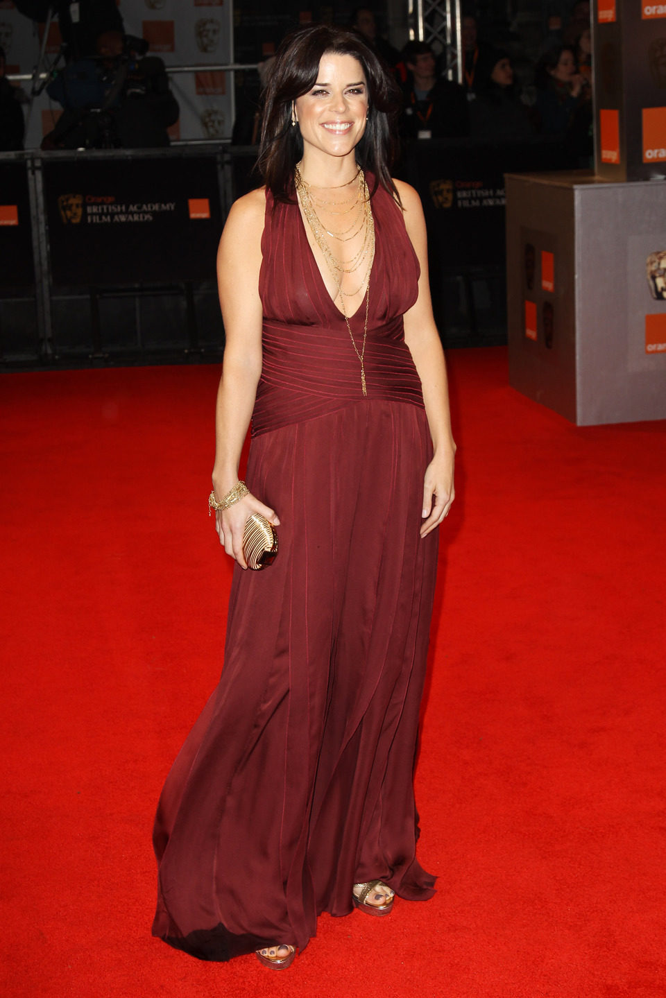 Neve Campbell de 'Scream' en los BAFTA 2011