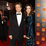 Colin Firth y su mujer en los BAFTA 2011