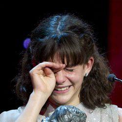 Marina Comas llora en los Goya 2011