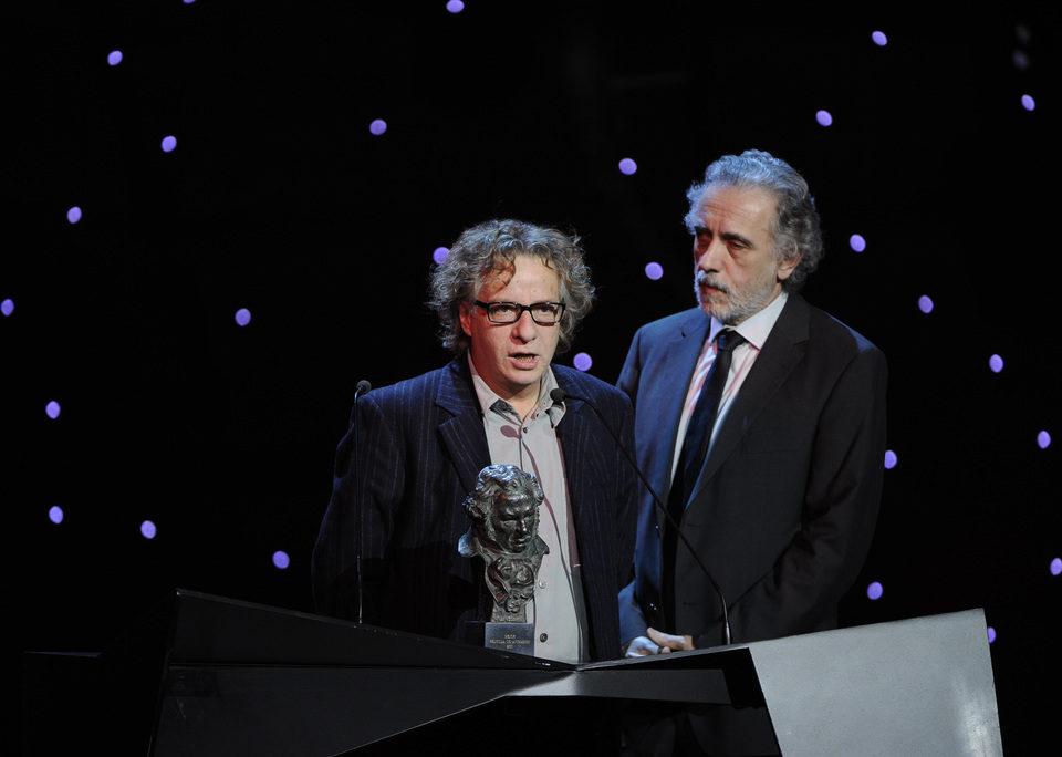 Javier Mariscal y Fernando Trueba recogen su Goya
