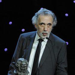 Fernando Trueba, tras ganar un premio Goya