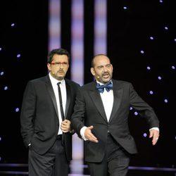 Andreu Buenafuente y José Corbacho, en la gala de los Goya 2011